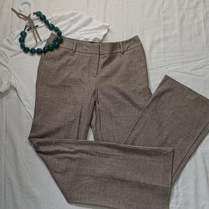 Brown straight leg trousers